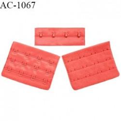 Agrafe 76 mm attache SG haut de gamme couleur rouge garance 3 rangées 4 crochets largeur 76 mm hauteur 57 mm prix à l'unité