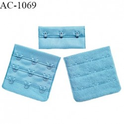 Agrafe 57 mm attache SG haut de gamme couleur bleu polaire 3 rangées 3 crochets fabriqué en France prix à l'unité