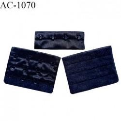 Agrafe 76 mm attache SG haut de gamme couleur bleu marine 3 rangées 4 crochets largeur 76 mm hauteur 57 mm prix à l'unité