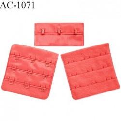 Agrafe 57 mm attache SG haut de gamme couleur rouge garance 3 rangées 3 crochets fabriqué en France prix à l'unité