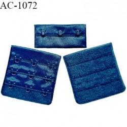Agrafe 57 mm attache SG haut de gamme couleur bleu paradis 3 rangées 3 crochets fabriqué en France prix à l'unité