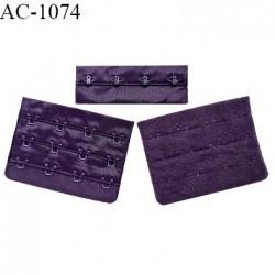 Agrafe 76 mm attache SG haut de gamme couleur violet chianti 3 rangées 4 crochets largeur 76 mm hauteur 57 mm prix à l'unité