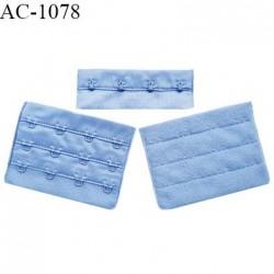 Agrafe 76 mm attache SG haut de gamme couleur bleu aigue marine 3 rangées 4 crochets largeur 76 mm hauteur 57 mm prix à l'unité