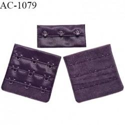 Agrafe 57 mm attache SG haut de gamme couleur violet chianti rosée 3 rangées 3 crochets fabriqué en France prix à l'unité