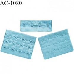 Agrafe 76 mm attache SG haut de gamme couleur bleu polaire 3 rangées 4 crochets largeur 76 mm hauteur 57 mm prix à l'unité