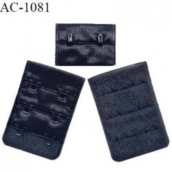 Agrafe 38 mm attache SG haut de gamme couleur bleu marine 3 rangées 2 crochets fabriqué en France prix à l'unité
