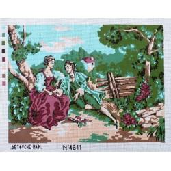 Canevas à broder 40 x 60 cm thème les amoureux made in France