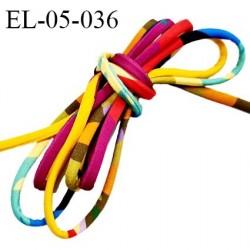 Cordon élastique 5 mm ou cache armature underwire casing galon lingerie et bain multicolore lycra extensible prix au mètre