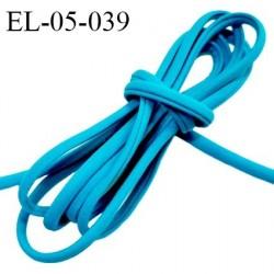 Cordon élastique 5 mm ou cache armature lingerie et bain couleur bleu lagon lycra extensible prix au mètre