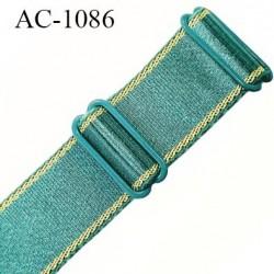Bretelle 16 mm lingerie SG couleur vert jade largeur 16 mm longueur 37 cm très haut de gamme prix à la pièce