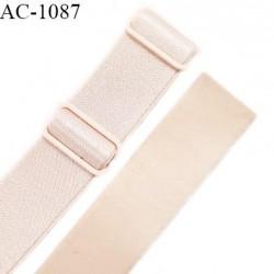 Bretelle lingerie SG 24 mm très haut de gamme couleur ivoire ancien brillant avec 2 barrettes longueur 32 cm prix à l'unité