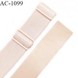 Bretelle lingerie SG 16 mm très haut de gamme couleur ivoire ancien brillant avec 2 barrettes longueur 32 cm prix à l'unité