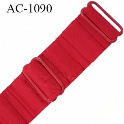 Bretelle lingerie SG 24 mm très haut de gamme cotelé froncé couleur route tentation longueur 33 cm prix à l'unité