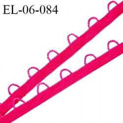 Elastique boutonnière picot 6 mm spécial lingerie haut de gamme couleur rose fabriqué en France largeur 6 mm prix au mètre