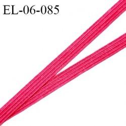 Elastique 6 mm spécial lingerie et couture couleur rose framboise grande marque fabriqué en France prix au mètre