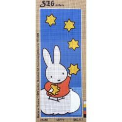 Canevas à broder 25 x 60 cm marque SEG de Paris thème MIFFY le lapin fabrication française