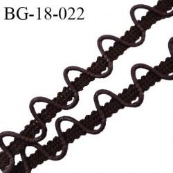 Galon boutonnière sur galon cordon coton ciré largeur 18 mm couleur marron prix au mètre