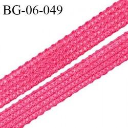 Droit fil à plat 6 mm spécial lingerie et couture du prêt-à-porter couleur rose raspberry fabriqué en France prix au mètre