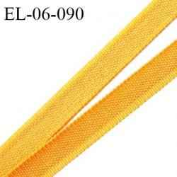 Elastique 6 mm fin spécial lingerie polyamide élasthanne couleur jaune palmier grande marque fabriqué en France prix au mètre