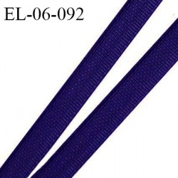 Elastique 6 mm fin spécial lingerie polyamide élasthanne couleur bleu marine grande marque fabriqué en France prix au mètre