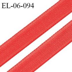 Elastique 6 mm fin spécial lingerie polyamide élasthanne couleur rouge grande marque fabriqué en France prix au mètre