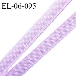 Elastique 6 mm fin spécial lingerie polyamide élasthanne couleur mauve pastel grande marque fabriqué en France prix au mètre
