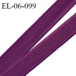 Elastique 6 mm fin spécial lingerie polyamide élasthanne couleur aubergine grande marque fabriqué en France prix au mètre