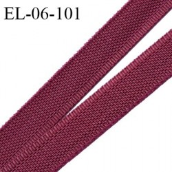 Elastique 6 mm fin spécial lingerie polyamide élasthanne couleur pourpre grande marque fabriqué en France prix au mètre