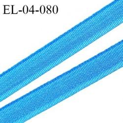 Elastique 4 mm fin spécial lingerie polyamide élasthanne couleur bleu grande marque fabriqué en France prix au mètre