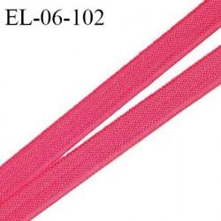 Elastique 6 mm fin spécial lingerie polyamide élasthanne couleur rose indien grande marque fabriqué en France prix au mètre