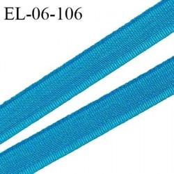 Elastique 6 mm fin spécial lingerie polyamide élasthanne couleur bleu paon grande marque fabriqué en France prix au mètre