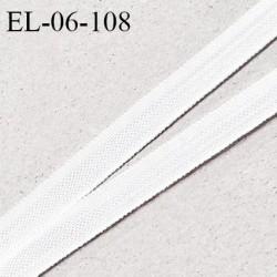 Elastique 6 mm fin spécial lingerie polyamide élasthanne couleur blanc grande marque fabriqué en France prix au mètre