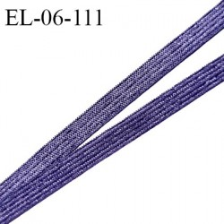 Elastique 6 mm fin spécial lingerie polyamide élasthanne couleur bleuet brillant grande marque fabriqué en France prix au mètre