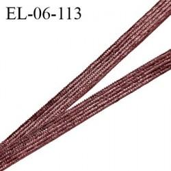Elastique 6 mm fin spécial lingerie et couture couleur marron brillant grande marque fabriqué en France prix au mètre