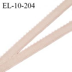 Elastique picot 10 mm lingerie très haut de gamme élastique souple couleur praline largeur 10 mm prix au mètre