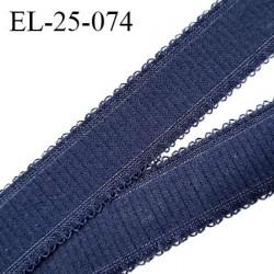Elastique 25 mm bretelle et lingerie couleur bleu denim très beau fabriqué en France pour une grande marque prix au mètre