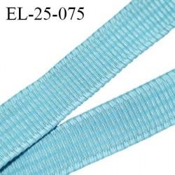 Elastique 24 mm bretelle et lingerie couleur bleu horizon légèrement brillant très beau fabriqué en France prix au mètre