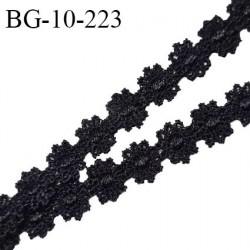 Galon ruban guipure motif fleurs couleur noir largeur 10 mm prix au mètre