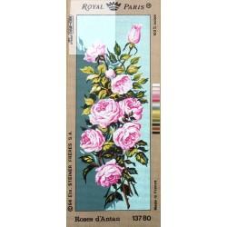 Canevas à broder 25 x 60 cm marque ROYAL PARIS thème ROSE D'ANTAN fabrication française