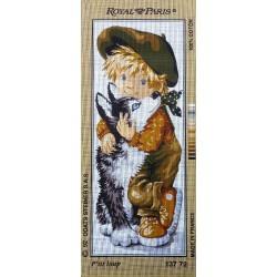 Canevas à broder 25 x 60 cm marque ROYAL PARIS thème p'tit loup made in France