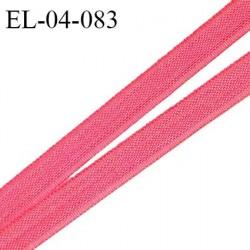 Elastique 4 mm fin spécial lingerie polyamide élasthanne couleur rose corail grande marque fabriqué en France prix au mètre