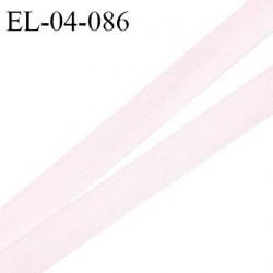 Elastique 4 mm fin spécial lingerie polyamide élasthanne couleur rose pâle grande marque fabriqué en France prix au mètre