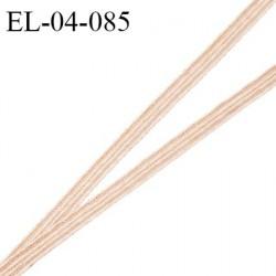 Elastique 4 mm spécial lingerie et couture couleur beige nubuck grande marque fabriqué en France prix au mètre