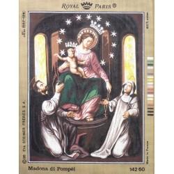 Canevas à broder 45 x 60 cm marque ROYAL PARIS thème Madona di Pompei made in France