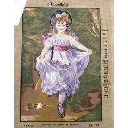 Canevas à broder 45 x 60 cm marque GOBELIN thème petite fille modèle