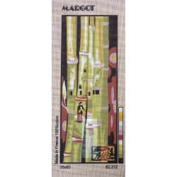 Canevas à broder 25 x 60 cm marque MARGOT thème BAMBOU fabrication française