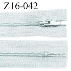 Fermeture zip 16 cm non séparable couleur gris quartz zip glissière nylon invisible largeur 4 mm largeur 27 mm prix à l'unité