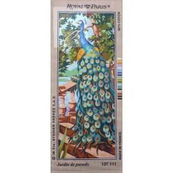 Canevas à broder 25 x 60 cm marque ROYAL PARIS thème JARDIN DE PARADIS fabrication française