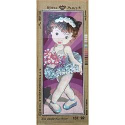 Canevas à broder 25 x 60 cm marque ROYAL PARIS thème la petite danseuse fabrication française