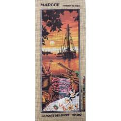 Canevas à broder 25 x 60 cm marque MARGOT thème la route des épices fabrication française